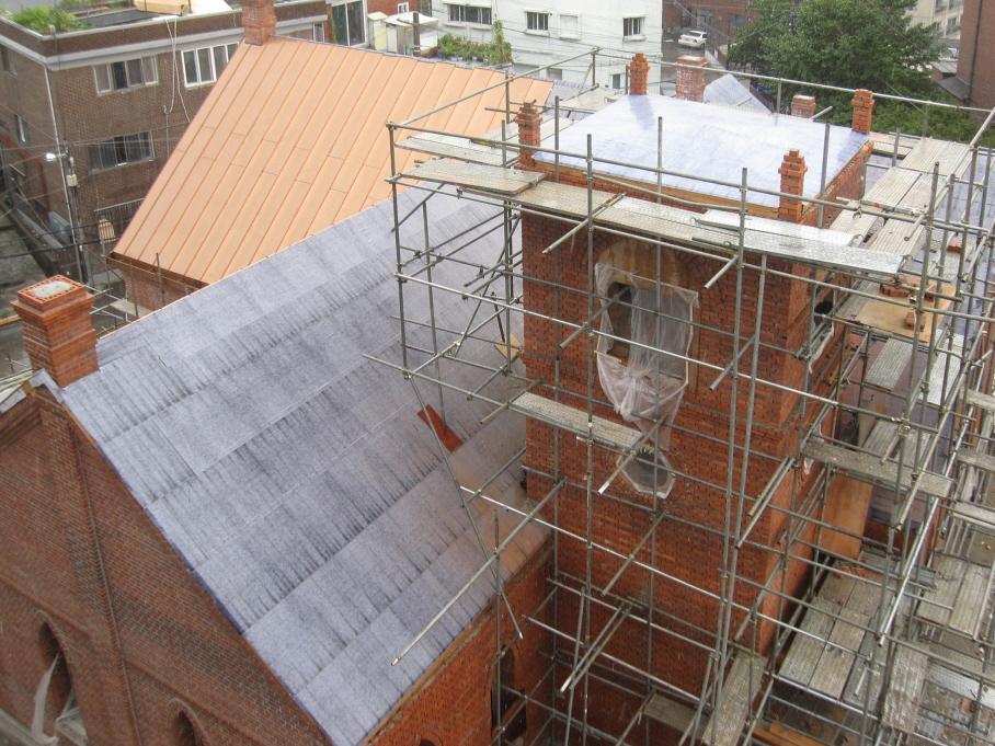 제물포웨슬리예배당.2012.08.30(종탑,지붕)