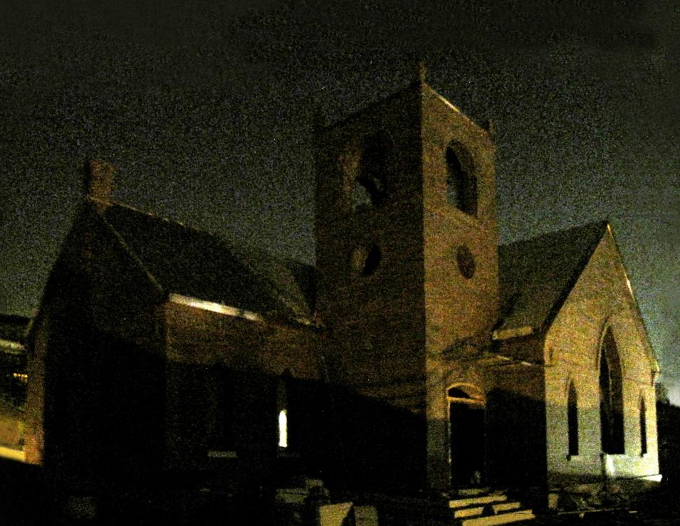 2012.09.03,제물포웨슬리예배당,밤전경(9시)